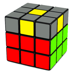 Rubik's Cube Yellow Cross Step (No Edges)