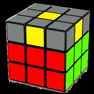 Rubik's Cube Yellow Cross Step (No Edges)