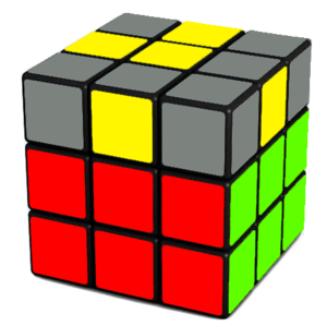 Rubik's Cube Yellow Cross Step (12-9)