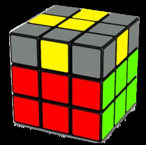 Rubik's Cube Yellow Cross Step (12-9)