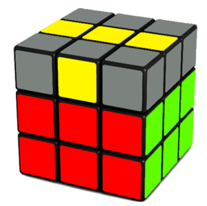 Rubik's Cube Yellow Cross Step (Line)