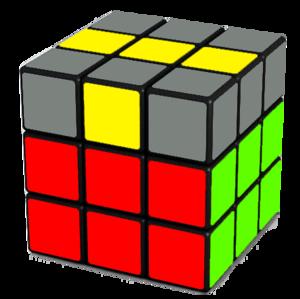 Rubik's Cube Yellow Cross Step (Line)