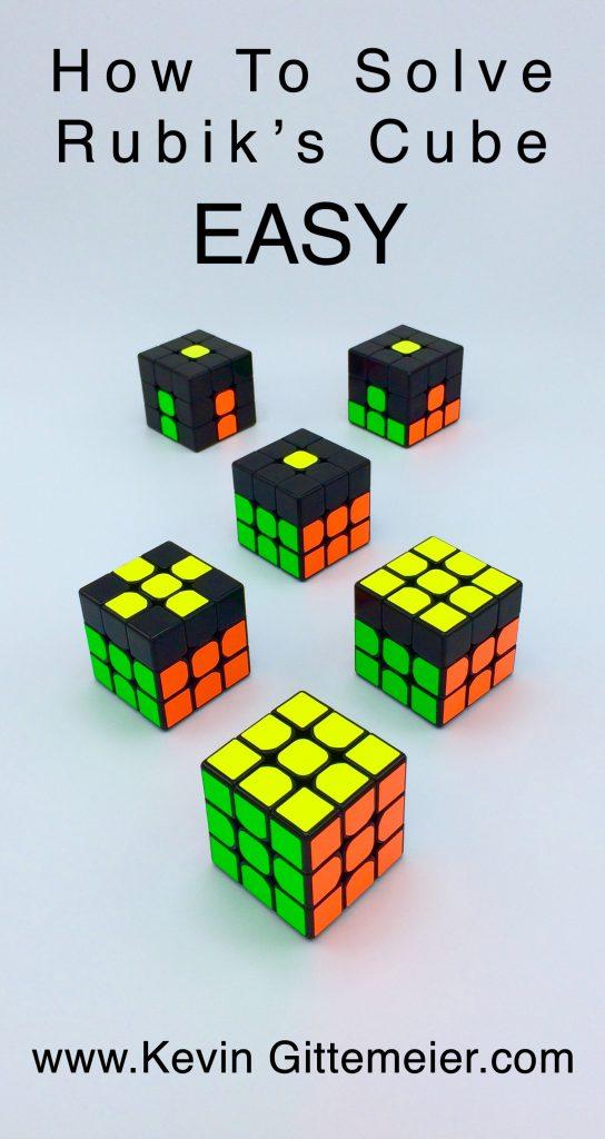 Solve Rubik's Cube in 7 Steps
