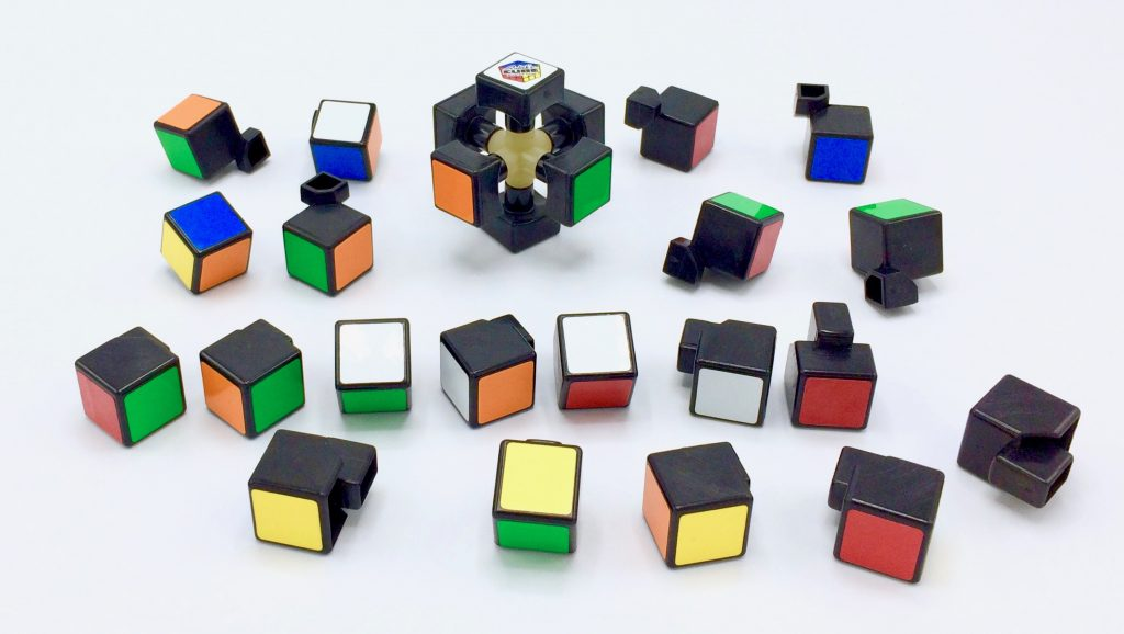 Rubik's Cube Core Center with Edge and Corner Pieces