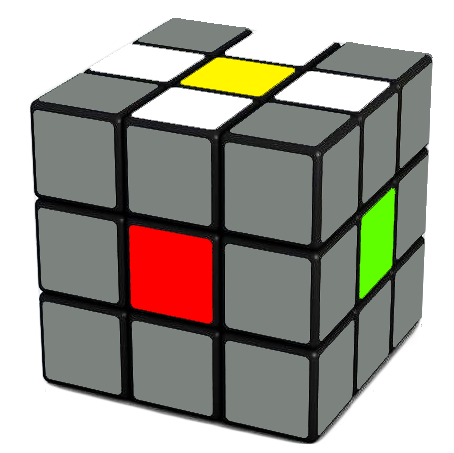 Rubik's Cube White Cross Daisy