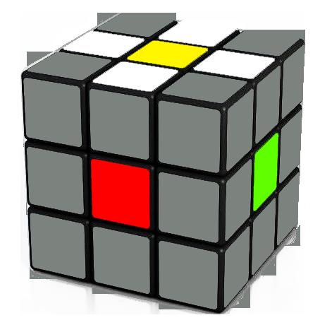 Rubik's Cube White Cross Daisy