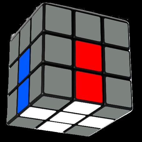 Rubik's Cube First Layer White Cross