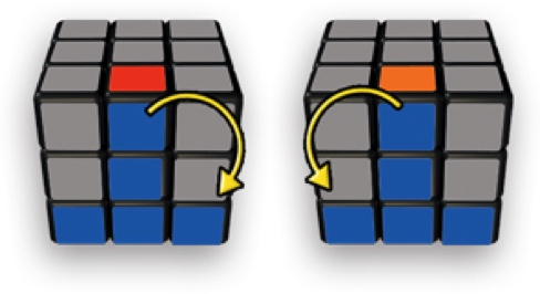 Rubik's Cube Layer 2 (middle layer) edge piece insert