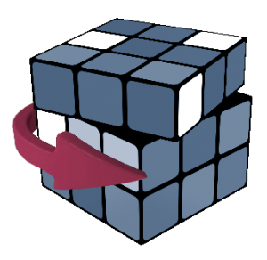 Rubik's Cube Double Layer Turn lower case