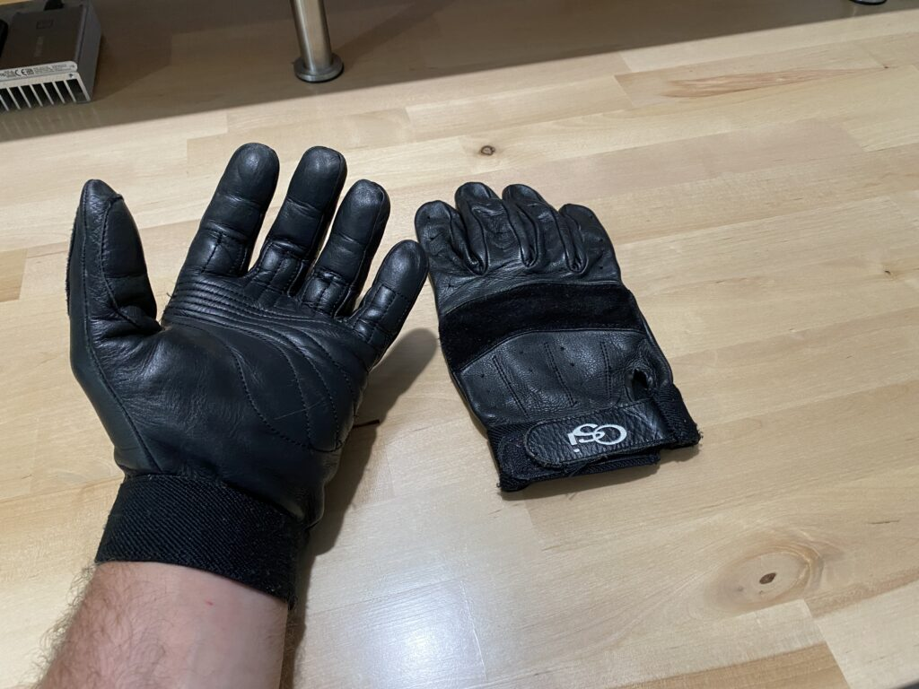 OSI Precurve Leather Motorcycle Gloves